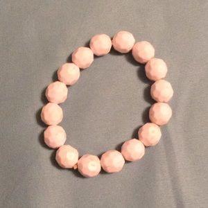 Vintage white bead bracelet